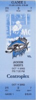 2003 ECHL Jackson Bandits at Baton Rouge Kingfish ticket stub