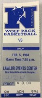 1994 NCAAMB UNLV at Nevada ticket stub