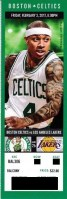 2017 NBA Lakers at Celtics ticket stub