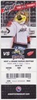 2013 AHL Abbotsford Heat ticket stub vs Grand Rapids