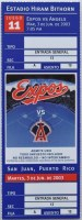2003 MLB Angels at Expos in Puerto Rico ticket stub