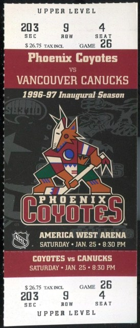 1997 NHL Canucks at Coyotes