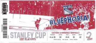 2007 NHL Playoffs Sabres at Rangers