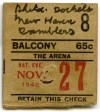 1948 AHL Philadelphia Rockets ticket stub vs New Haven