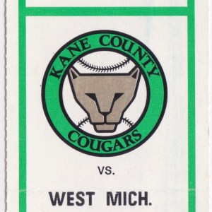 1995 Kane County Cougars vs Whitecaps 5/21/1995