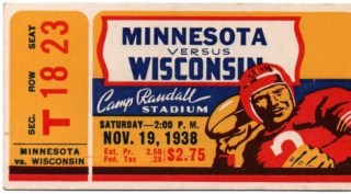 1938 NCAAF Minnesota at Wisconsin 51