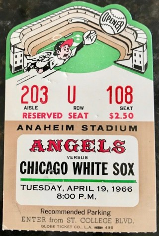 1966 MLB White Sox at Angels first game Anaheim Stadium 50