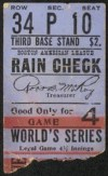1912 World Series Game 4 Ticket Stub Giants vs Red Sox