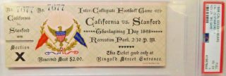 1898 California vs Stanford ticket