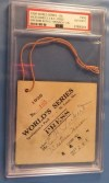 1926 World Series Game 4 Ticket Stub Yankees vs Cardinals