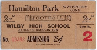 1930s Wilby High School football ticket stub 20