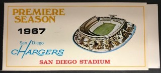 1967 NFL San Diego Chargers ticket book