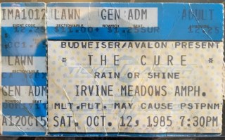 1985 The Cure Ticket Stub Irvine Meadows 20