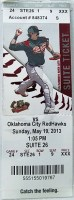 2013 Sacramento River Cats ticket vs Oklahoma City RedHawks
