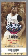 2016 New Orleans ticket vs Los Angeles Lakers