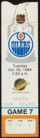 1984 Edmonton Oilers ticket stub vs Canucks Wayne Gretzky 3 Points