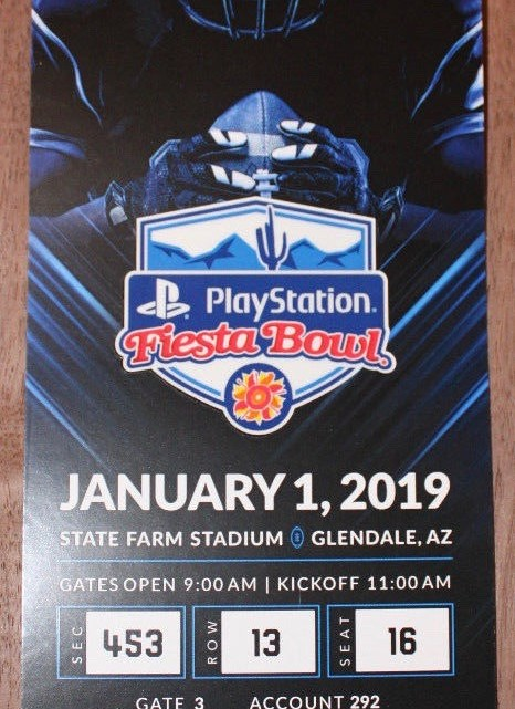 2019 Fiesta Bowl Ticket Stub LSU vs UCF 8.74