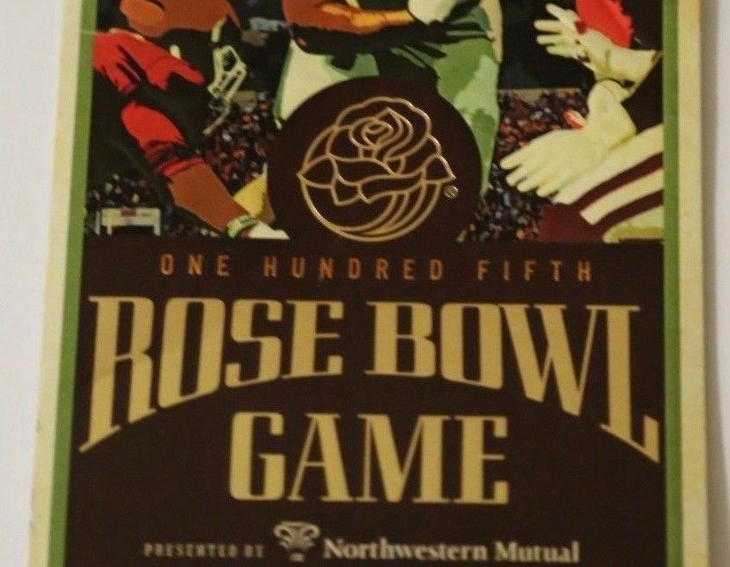 2019 Rose Bowl Ticket Stub Ohio State vs Washington