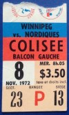 1972 WHA Nordiques ticket stub vs Jets Bobby Hull WHA debut