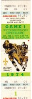 1975 NFL New Orleans unused ticket vs Pittsburgh Steelers