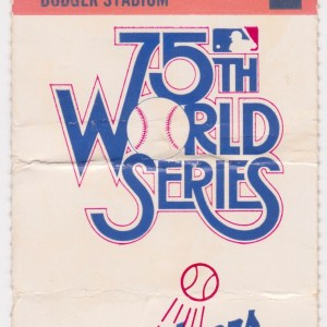 1978 World Series Game 2 ticket stub Yankees at Dodgers 10/11/1978