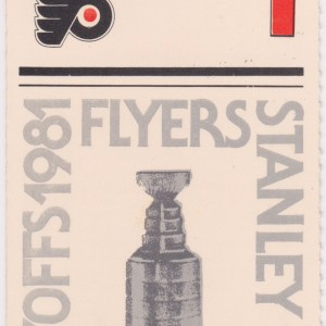 1981 1st Round Game 1 ticket stub Flyers vs Nordiques 4/8/1981