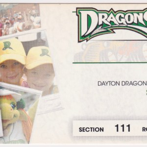 2011 Dayton Dragons ticket stub vs Hot Rods