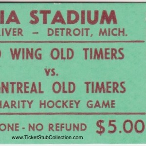 1976 Old Timers Game ticket stub Canadiens vs Red Wings 2/27/1976