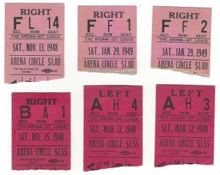 1948 AHL St Louis Flyers ticket stub