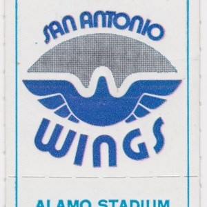 1975 WFL San Antonio Wings ticket stub vs Sun 8/9/1975