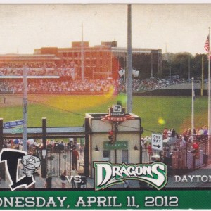 2012 Dayton Dragons ticket stub vs Lugnuts for sale