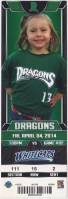 2014 Dayton Dragons ticket stub vs West Michigan