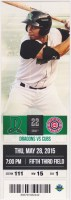 2015 Dayton Dragons ticket stub vs South Bend