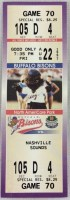 1997 Buffalo Bisons ticket stub vs Nashville