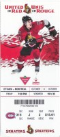 2014 Ottawa Senators ticket stub vs Canadiens