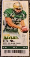 2017 NCAAF Baylor Bears ticket stub vs UTSA