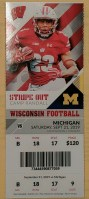 2019 NCAAF Wisconsin Badgers ticket stub vs Michigan