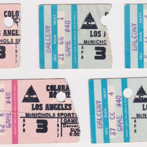 1977 Colorado Rockies ticket stubs vs LA Kings for sale