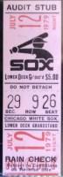 1979 White Sox Disco Demolition Night ticket stub
