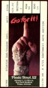 1983 Fiesta Bowl ticket stub Arizona State vs Oklahoma