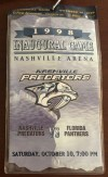 1998 Nashville Predators inaugural game ticket stub