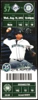 2012 Felix Hernandez Perfect Game ticket stub