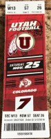 2017 NCAAF Utah Utes ticket stub vs Colorado