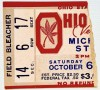 1951 NCAAF Ohio State Buckeyes ticket stub vs Michigan