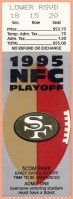 1996 NFC Divisional Game ticket stub 49ers vs Packers