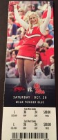 2017 NCAAF Mississippi ticket stub vs Arkansas