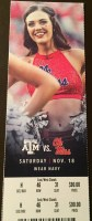 2017 NCAAF Mississippi ticket stub vs Texas A and M