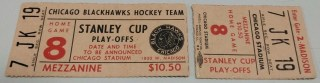 1973 Stanley Cup Final ticket stub Blackhawks vs Canadiens