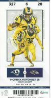 2019 Los Angeles Rams ticket stub vs Ravens