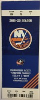2019 New York Islanders ticket stub vs Blue Jackets